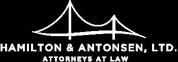 Hamilton & Antonsen Logo in White